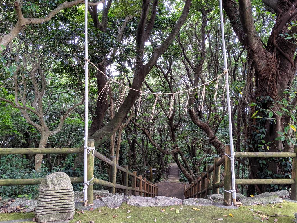 林道脇にある入り口