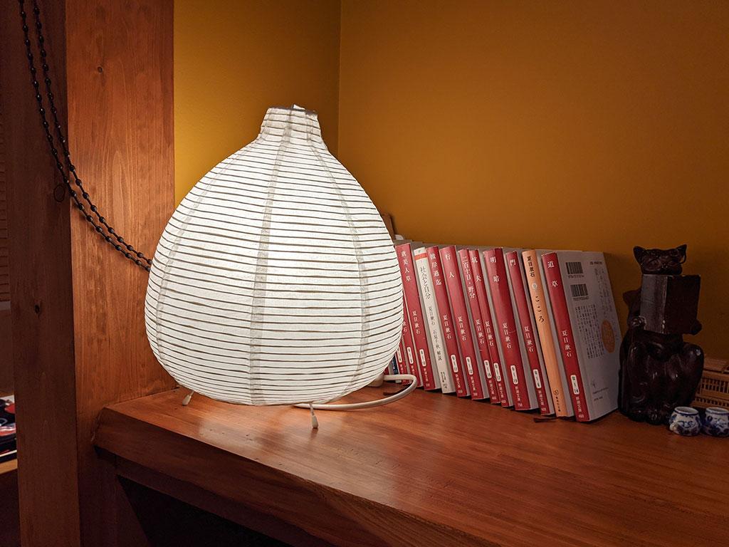 ランプと夏目漱石の書籍