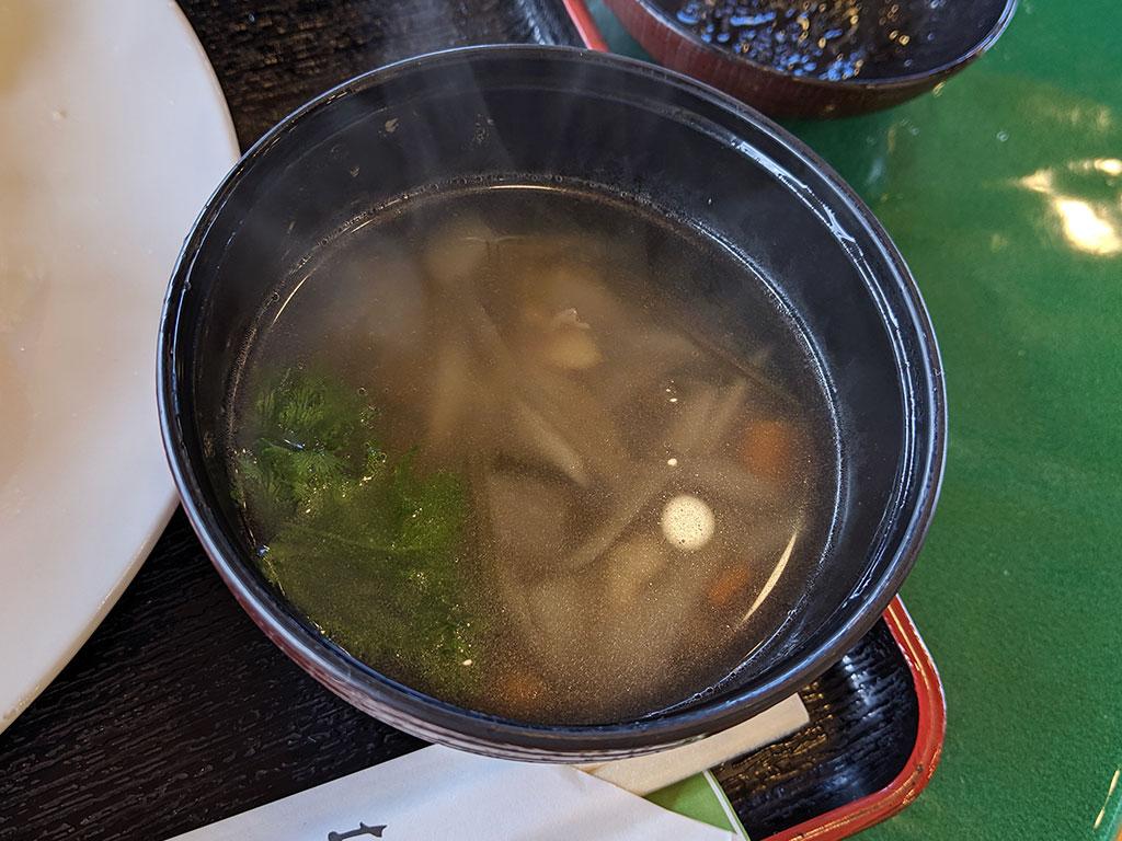 そば米スープ