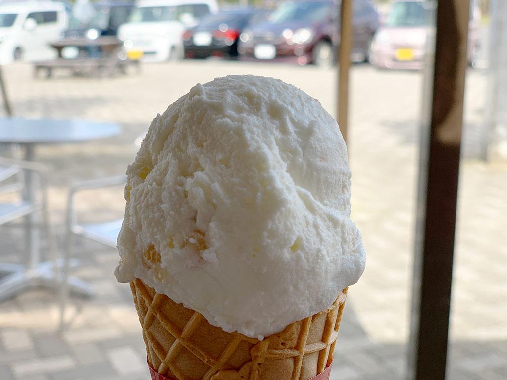 栗のアイスクリーム