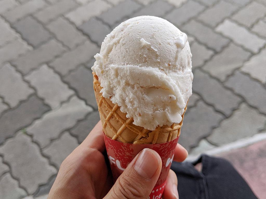 いちじくのアイスクリーム