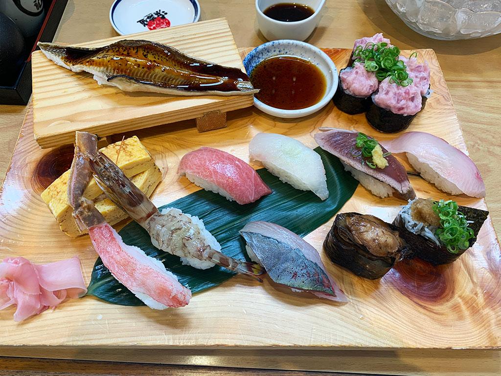 浜海道の寿司ランチ
