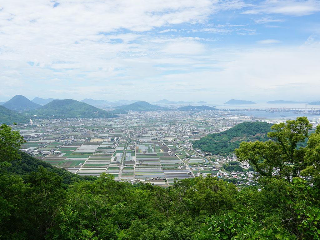 白峰展望台からの景色