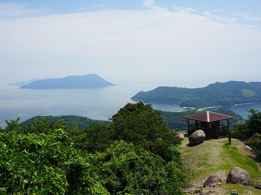 粟島の城山山頂からの景色