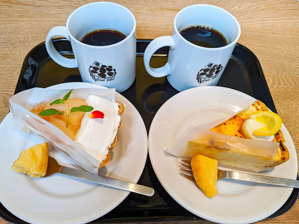 桃とチーズのタルト/瀬戸内レモンのシブースト