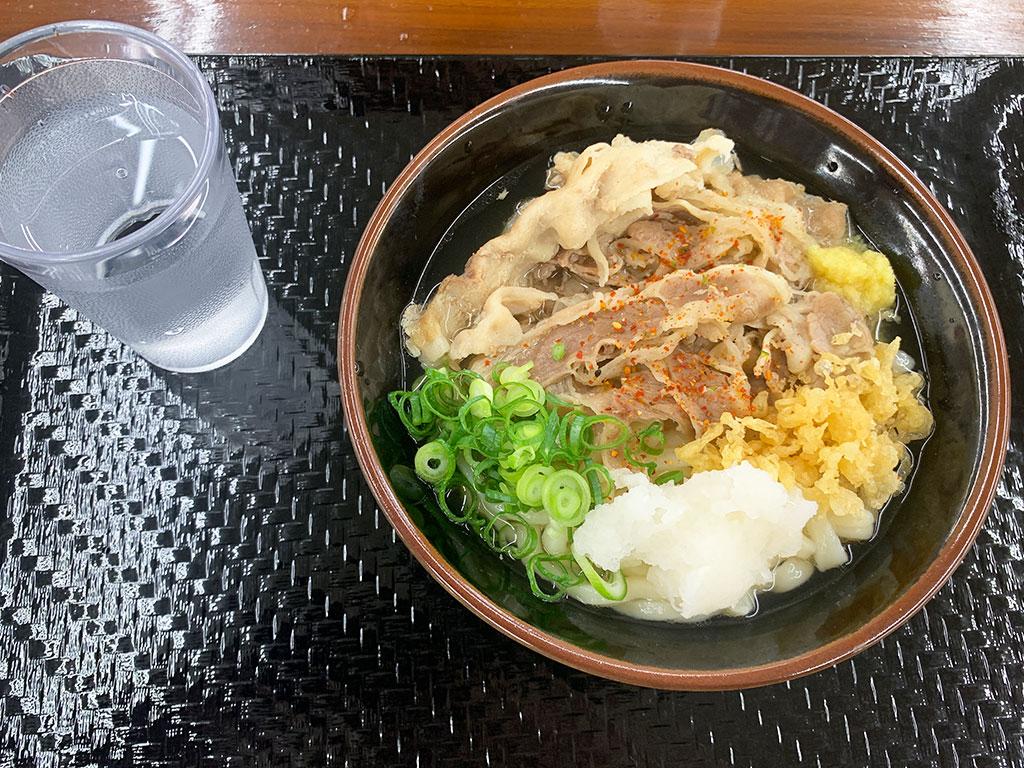 肉うどん(小・温)