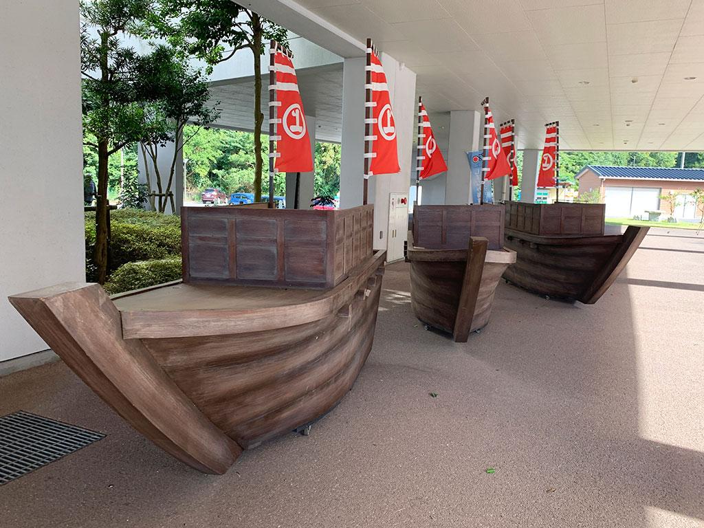 村上海賊ミュージアムの屋外展示02